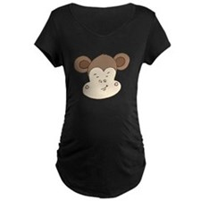 Smirking Monkey Face Maternity T-Shirt