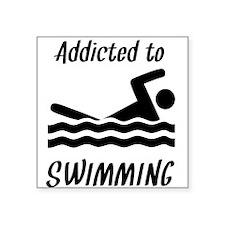 Addicted To Swimming Sticker