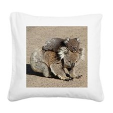 Funny Koala bear Square Canvas Pillow