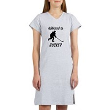 Addicted To Hockey Women's Nightshirt