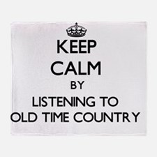 Funny Old time radio Throw Blanket