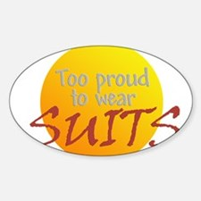 Too proud Oval Decal
