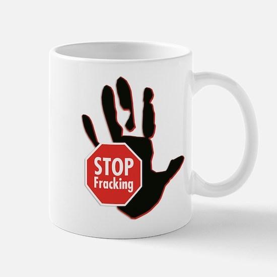 Stop Fracking Hand Sign Mugs