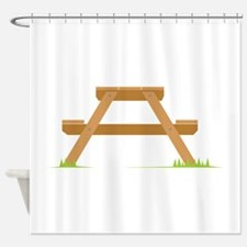 Picnic Table Shower Curtain