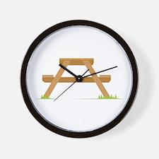 Picnic Table Wall Clock
