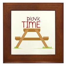 Picnic Time Framed Tile