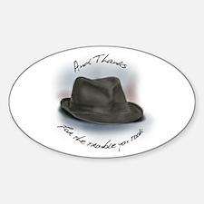 Hat for Leonard 1 Sticker (Oval)