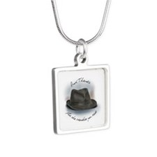 Hat for Leonard 1 Silver Square Necklace