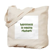 happiness is eating rhubarb Tote Bag