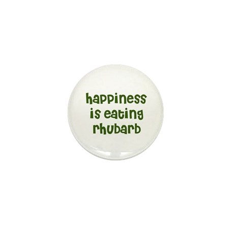 happiness is eating rhubarb Mini Button (10 pack)