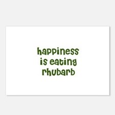 happiness is eating rhubarb Postcards (Package of