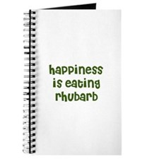 happiness is eating rhubarb Journal