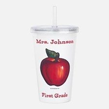 Red Apple Acrylic Double-Wall Tumbler