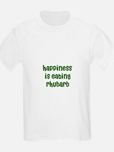 happiness is eating rhubarb T-Shirt