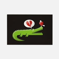 Alligator in Love background Magnets