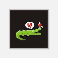 Alligator in Love background Sticker