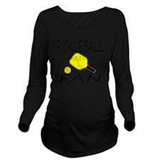Cute Pickle ball Long Sleeve Maternity T-Shirt