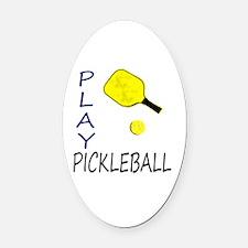Love pickleball Oval Car Magnet