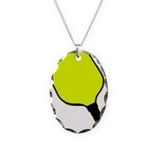 Yellow pickle ball pickleball paddle Necklace