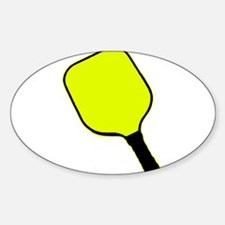 Yellow pickle ball pickleball paddle Decal