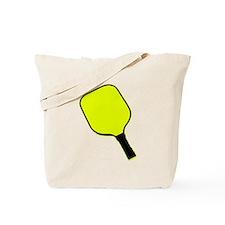 Yellow pickle ball pickleball paddle Tote Bag