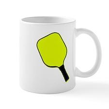 Yellow pickle ball pickleball paddle Mugs