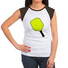 Yellow pickle ball pickleball paddle T-Shirt