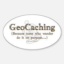 GeoCaching Purpose Oval Decal