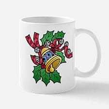 Christmas Art Holly and Bells Mug