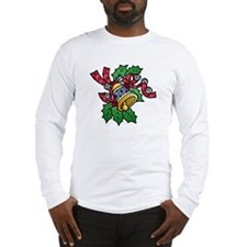Christmas Art Holly and Bells Long Sleeve T-Shirt