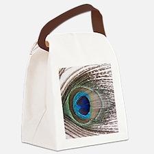 Cute Peacock Canvas Lunch Bag