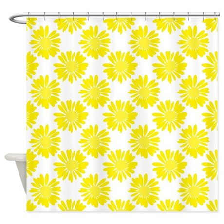 Yellow Flowers Shower Curtain By Ornaartzi