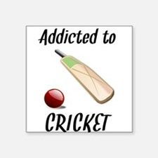 Addicted To Cricket Sticker