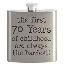 70 Years Childhood Flask