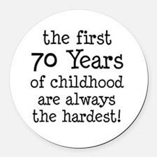 70 Years Childhood Round Car Magnet