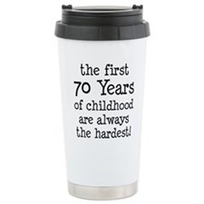 70 Years Childhood Travel Mug