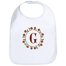 Letter G Monogram Bib