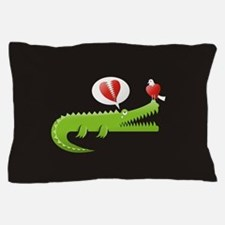 Funny Gator Pillow Case
