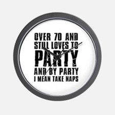 Over 70 Party Wall Clock