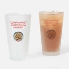 oatmeal Drinking Glass