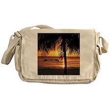 Caribbean tropical sunset Messenger Bag