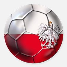 Poland Football Round Car Magnet
