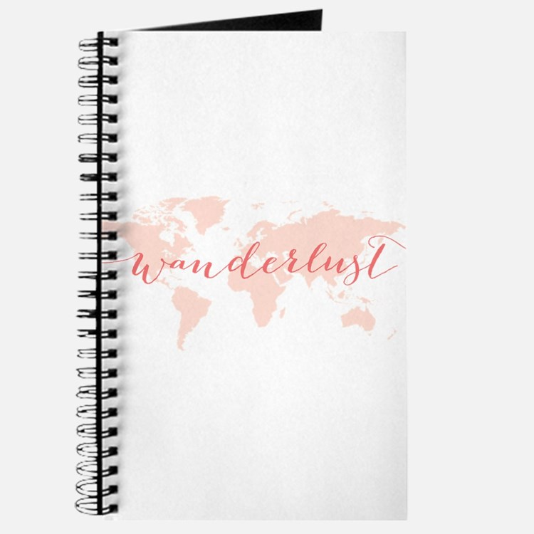 Wanderlust world map Journal