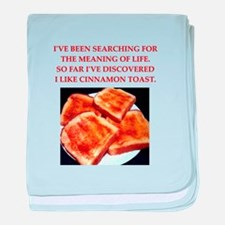cinnamon toast baby blanket
