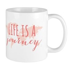 Life is a journey world map Mugs