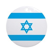 Israel Flag - Magen David Ornament (Round)