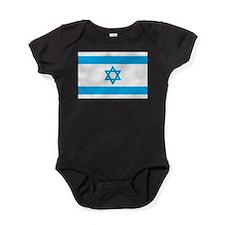 Israel Flag - Magen David Baby Bodysuit