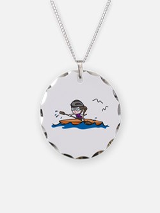Kayak Girl Necklace