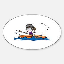 Kayak Girl Decal