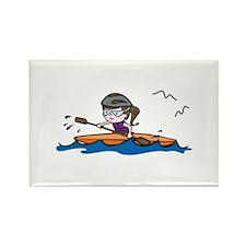 Kayak Girl Magnets